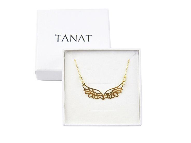 Gilded ANGEL'S WINGS necklace. Pz naszyjnik ażurowe skrzydła anioła http://www.tanat.eu/naszyjniki/1932-pz-naszyjnik-azurowe-skrzydla-aniola.html #alngelswings #necklace #necklacewings