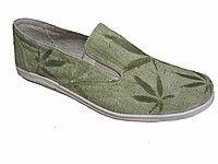 Обувь из конопли. Туфли мужские летние «Стив листья».