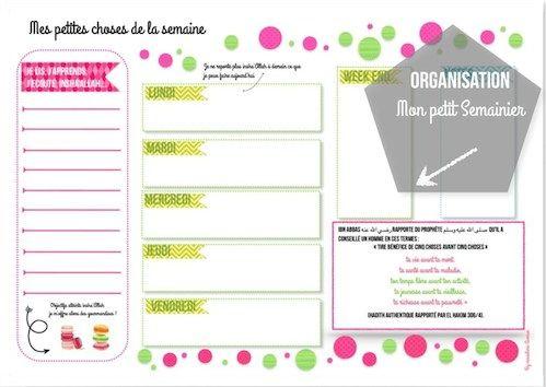 S'organiser pour le rangement + Semainier à imprimer !