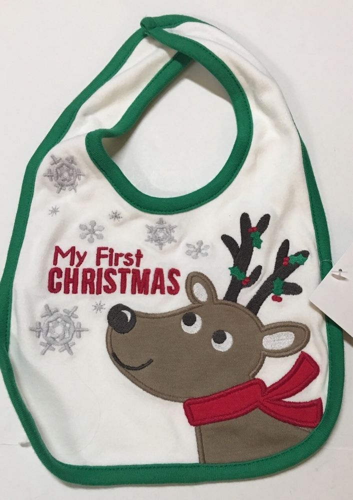 Carters My First Christmas Infant Baby Bib New With Tags  | eBay