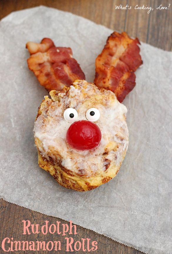 Rudolph Cinnamon Rolls | Recipe | Christmas morning ...