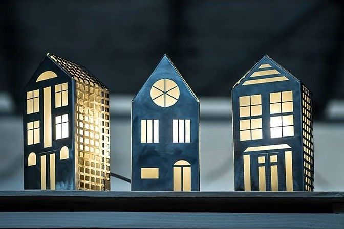 LAMPKA kinkiet , stojąca lub nocna DOMEK NR.2 - Archerlamps - Kinkiety