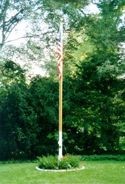 yard flag pole best 20 flag pole landscaping ideas on yard 1204
