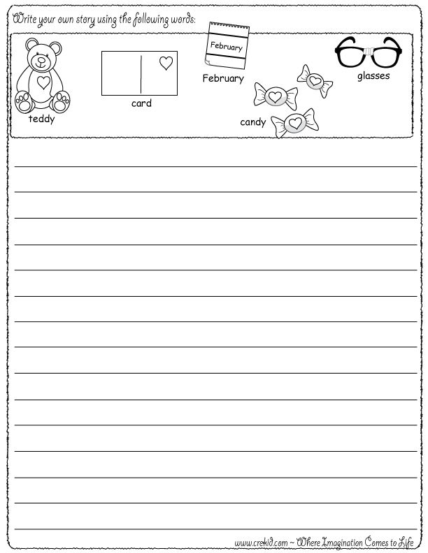 Worksheets for 2nd graders writing a story