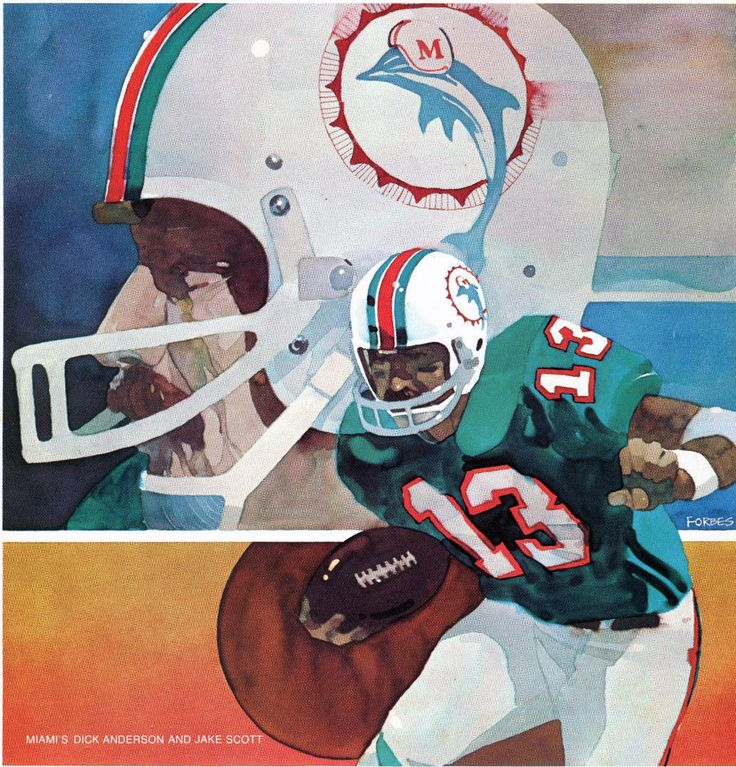 137 best nfl art miami dolphins images on pinterest art miami miamis dick anderson and jake scott illustration by bart forbes for pro magazine voltagebd Gallery