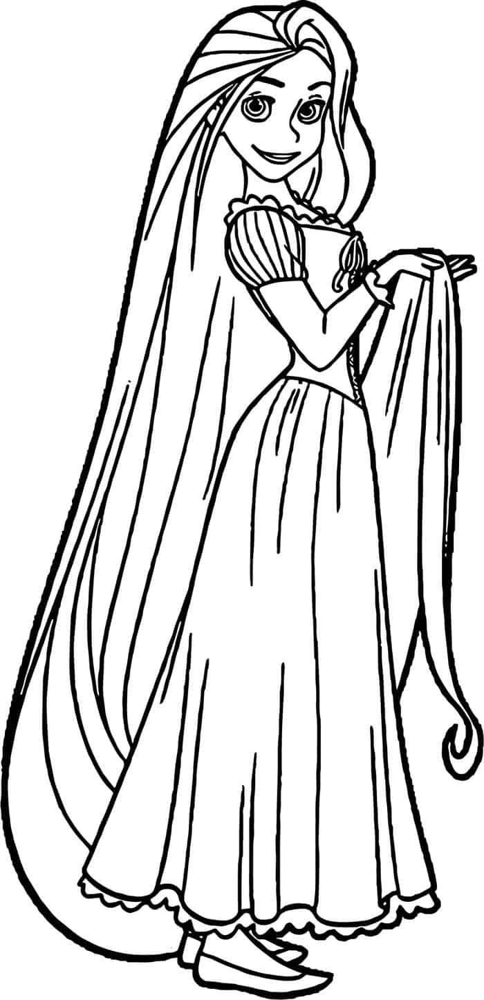 disney princesses coloring pages rapunzel  Rapunzel coloring