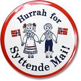 "Syttende Mai"" is Norwegian for the ""Seventeenth of May"", Norwegian Independence Day--a HUGE celebration in Norway! Not hard to imagine, considering how many centuries it belonged to Denmark."