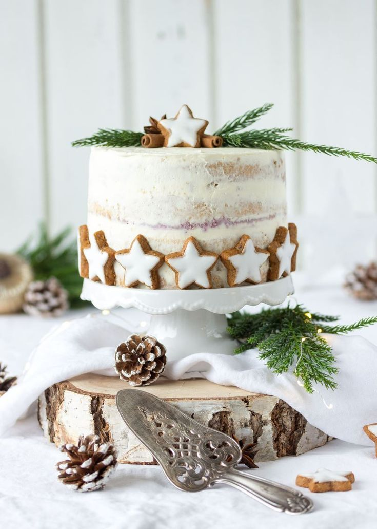 Rezept Zimtstern Apfel Preiselbeer Torte Weihnacht…