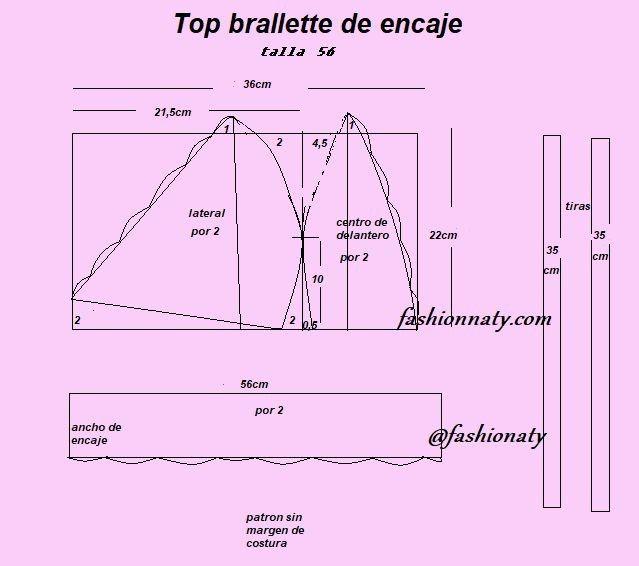 Cómo Hacer Bralette De Encaje Cin Patrones 654 Opiniones Patrones Y Labores Patrón De Top Top De Encaje Bralette De Encaje