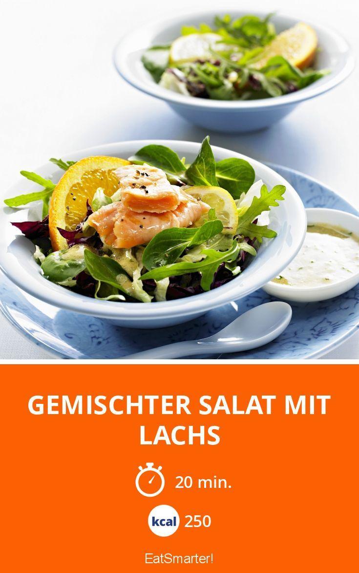 Gemischter Salat Mit Lachs Rezept Salat Camping