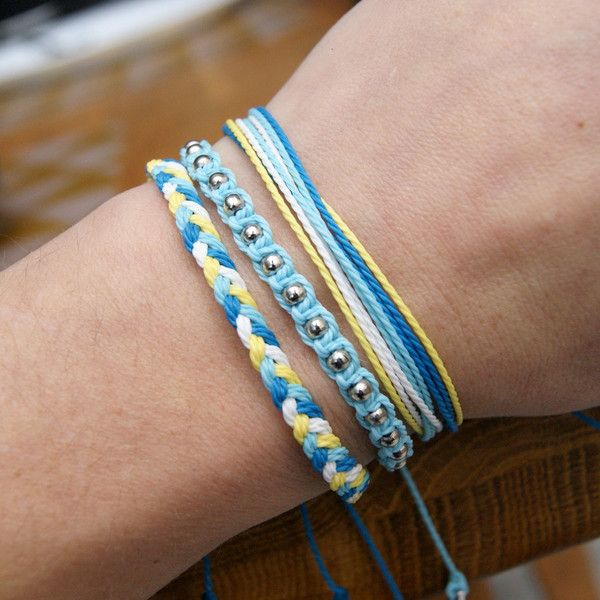 Friendship Bracelets – SET- greek – a unique product by SheAndHe on DaWanda