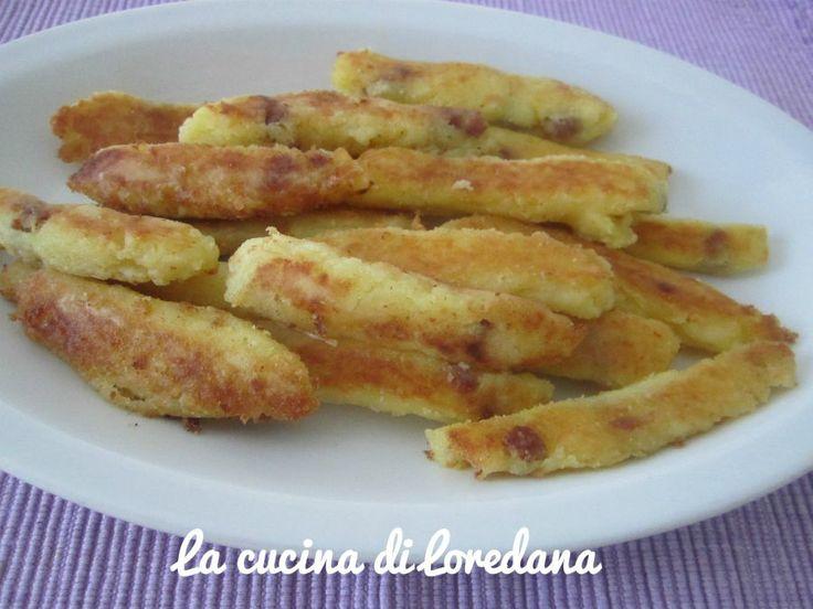 Bastoncini di patate con pancetta | La cucina di Loredana