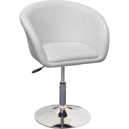 Best Master Furniture Tufted Vinyl Adjustable Height Swivel Short Bar Stool, Set of 2, Multiple Colors Available, White