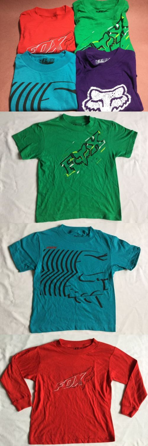 Tops Shirts and T-Shirts 175521: Fox Racing Kids Fox Kids Lot Of 4 T-Shirt Front Logo Multi Colored Size M -> BUY IT NOW ONLY: $34.99 on eBay!