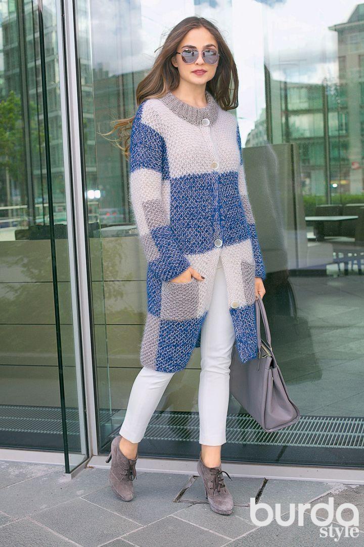 Пальто: Verena Модное вязание 5/ 2014/ 5 / Burdastyle
