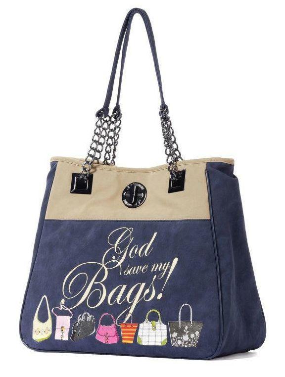 Le Pandorine - Borse - Shopping - Donna - CLASSIC2TONESBlueBei - FASHIONQUEEN.NET    #Le Pandorine #Shopping #Fashionqueen