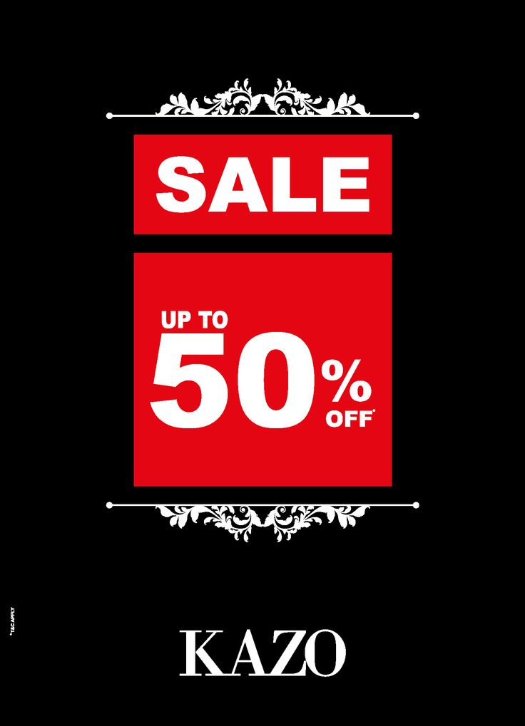 Last few days of #KAZO end of season sale, Get upto 50% off in stores & leading MBO's.