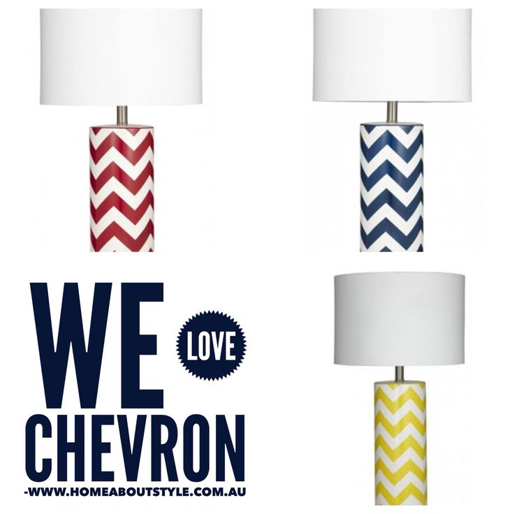 Add a splash of colour with the Zig Zag table lamps. Available in Red, Blue &Yellow $159 complete with shade. www.homeaboutstyle.com.au lamps @home_about_style #interiordesign #homedecor #tablelamps #homelighting #chevron #brightcolours #socool #modernlighting #kidslights #beautifulhomes #pickoftheday #homedecoratingideas #homeaboutstyle