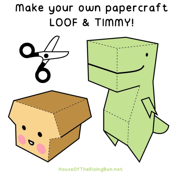 """LOOF & TIMMY Paper Foldables for """"House of the Rising Bun"""""""