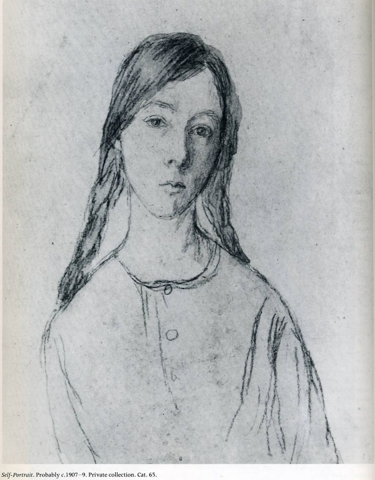 Self Portrait, 1907-1909 Gwen John
