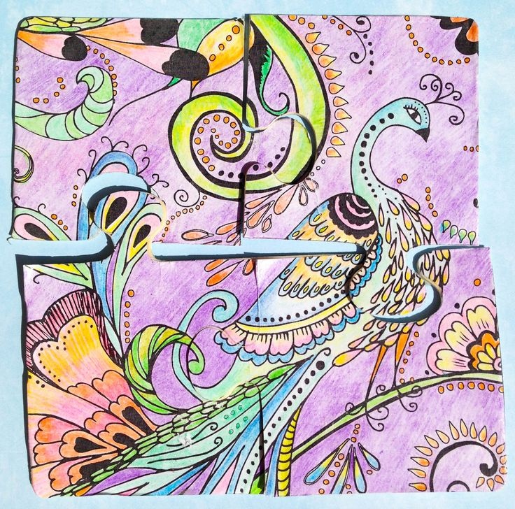Puzzle Created From Coloring Pages Boho Designs Book Made By Janet Maurer