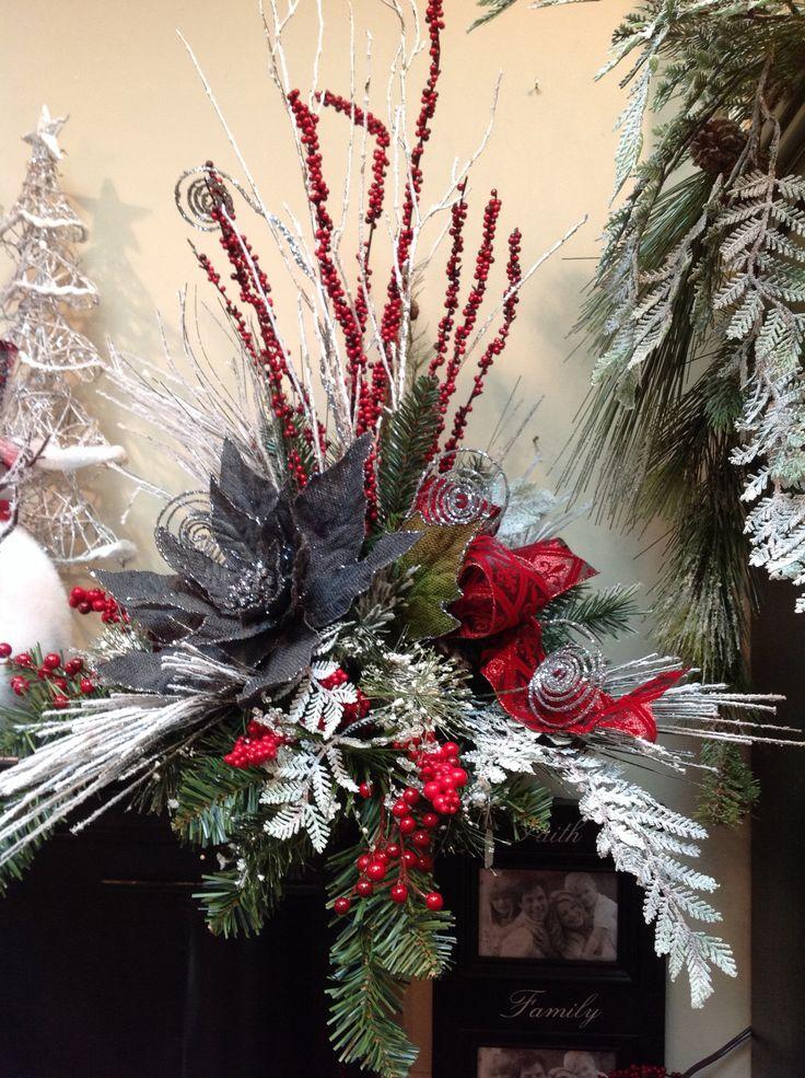 Christmas floral arrangement idea.