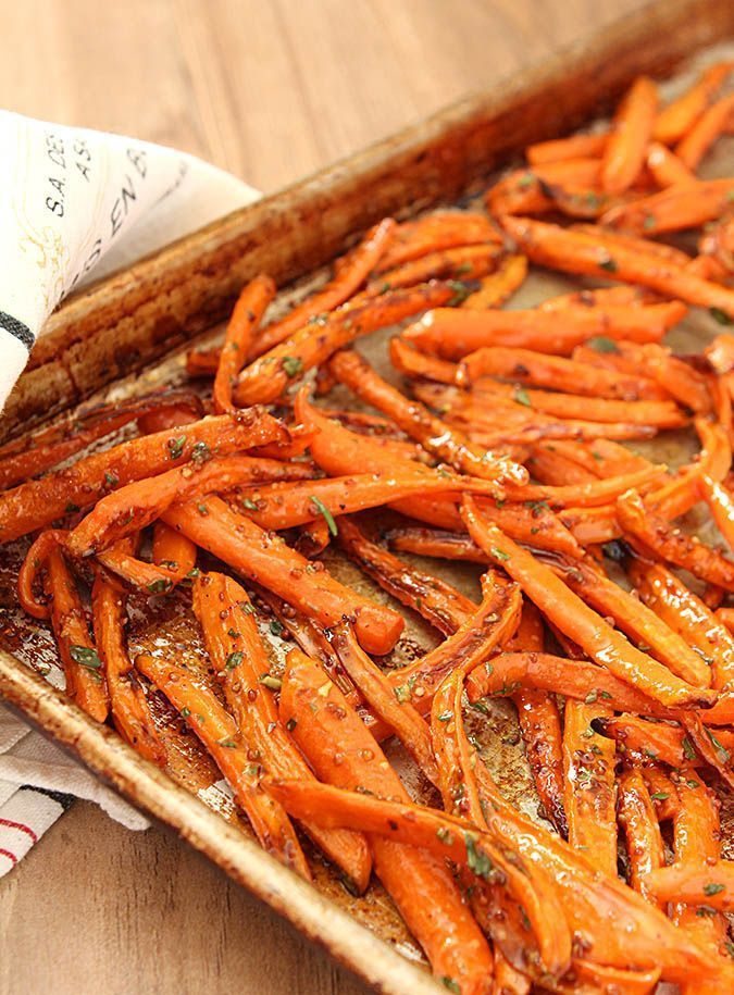 Roasted Carrots with Honey and Fresh Herbs from Creative Culinary. Find this recipe and others at http://www.creative-culinary.com.
