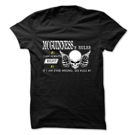 MCGUINNESS RULE\S Team  - #birthday gift #cute gift. BUY TODAY AND SAVE => https://www.sunfrog.com/Valentines/MCGUINNESS-RULES-Team-.html?68278