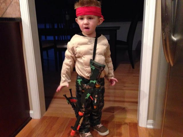 Funny Toddler Costume  Rambo Toddler