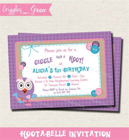 Hootabelle Invitation - Giggles and Grace Designs