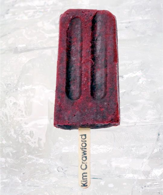 Pinot Noir-Infused Blackberry Ice Pops