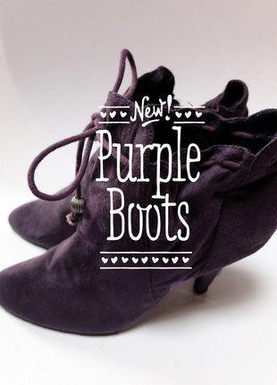 À vendre sur #vintedfrance ! http://www.vinted.fr/chaussures-femmes/bottes-and-bottines/29219086-bottines-violettes-facon-nubuck