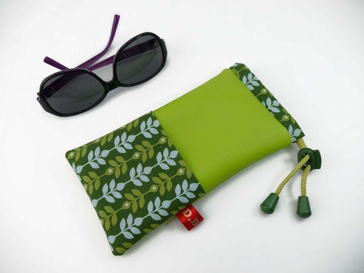 Etuis à lunette femme vert motif feuille : Etuis, mini sacs par d-balzan