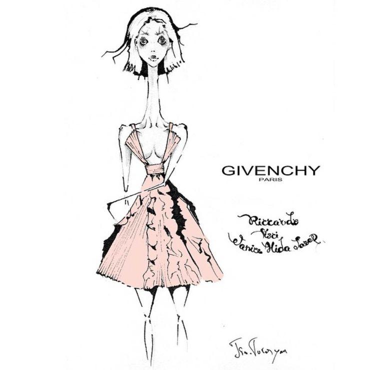 givenchy,janice alida.fashion illustration by Tio Torosyan