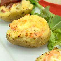Ma recette du jour : Pommes de terre farcies au fromage sur Recettes.net