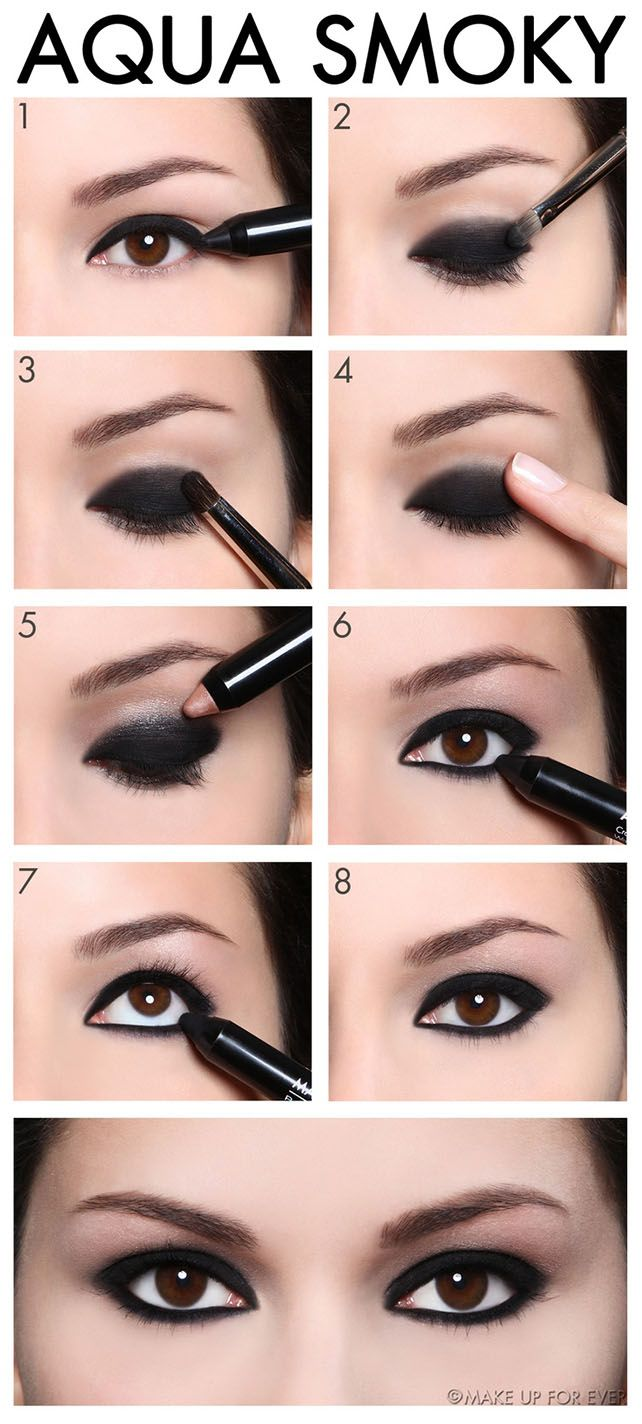 An amazing Aqua Smoky Eye Shadow Makeup Tutorial and get ready to look ...