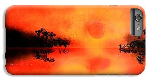 Joy Of The Sun IPhone 6s Plus Case Printed with Fine Art spray painting image Joy Of The Sun by Nandor Molnar (When you visit the Shop, change the orientation, background color and image size as you wish)