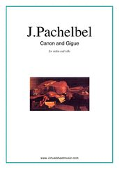 Cover icon of Canon in D and Gigue sheet music for violin and cello by Johann Pachelbel