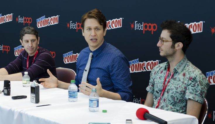The Geek Generation had the privilege of attending a Q&A for The Pete Holmes Show at New York Comic Con. In attendance for questions were comedian and host Pete Holmes, as well as show producers Nick Bernstein and Oren Brimer.