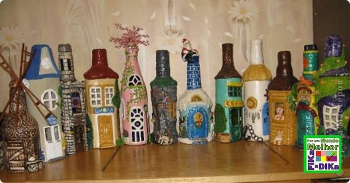 Foto: Decorando garrafas com massa de sal. massa>http://www.liveinternet.ru/users/5134073/post283720676/ PAP=>http://www.liveinternet.ru/users/5134073/post283721603/ #recycling #diy #doityourself #handmade #fikaadika #reciclagem  Fika a Dika - Por um Mundo Melhor