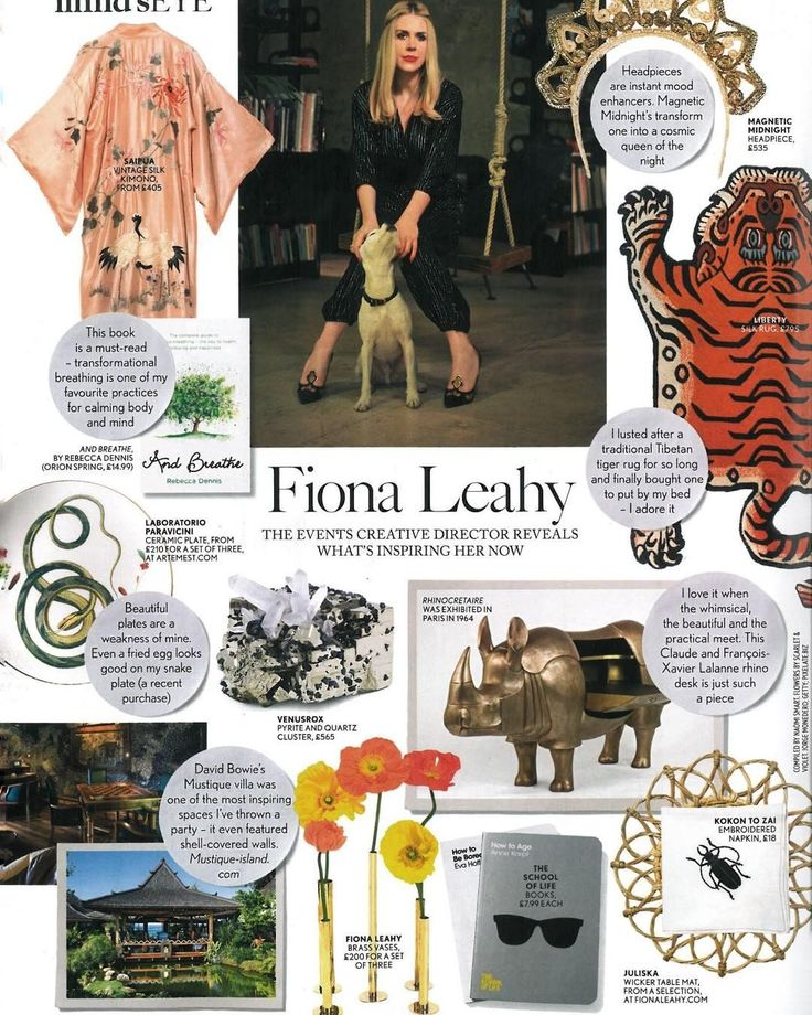 Thank you to Fiona Leahy for including us in her British Vogue April feature xx
