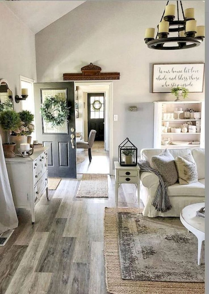 Gorgeous 33 farmhouse living room flooring ideas coachdecor.com