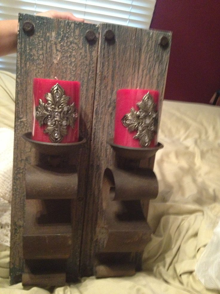 Sconces and candles from hobby lobby Decor Pinterest Sconces, Hobbies and Lobbies