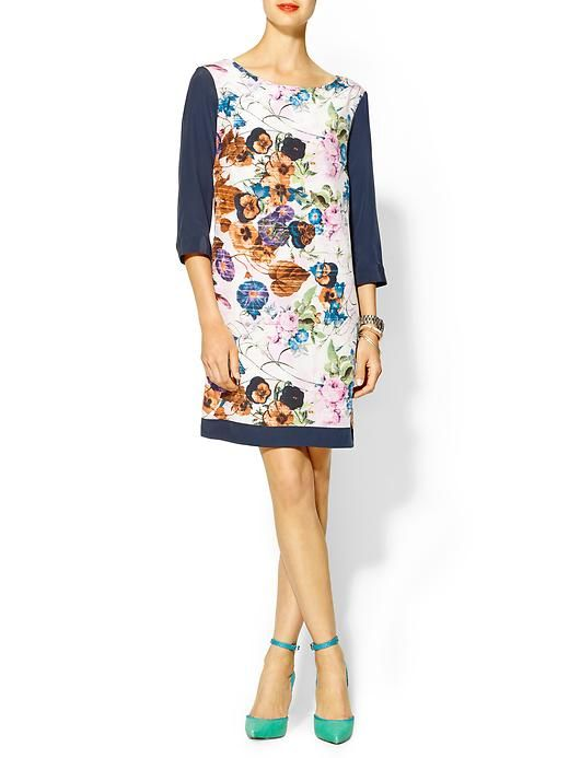 pretty floral shift dress - sleeves from a big Tee