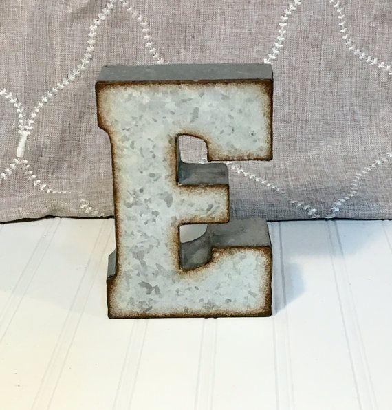 "7 Inch Metal Letters 24 Best 7"" Galvanized Metal Letters Images On Pinterest"