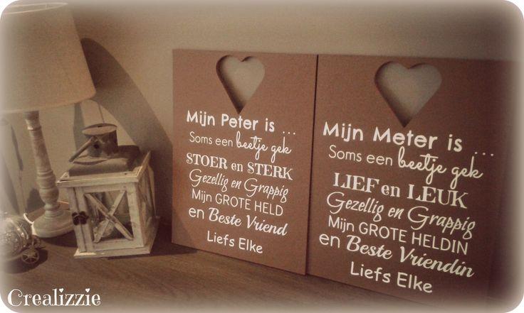 Meter - Peter borden! Leuk met verjaardagen, kerst & nieuw, geboortes en communie!