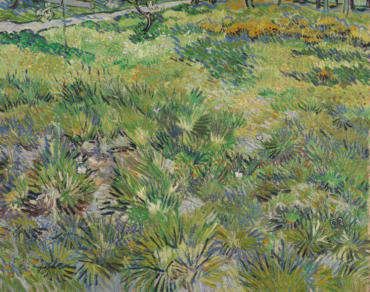 Vincent Van Gogh Long grass with butterflies