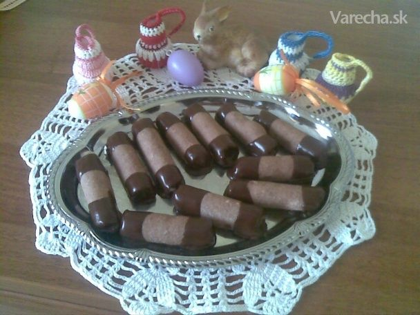 Orechové trubičky s vanilkovým krémom (fotorecept) - Recept