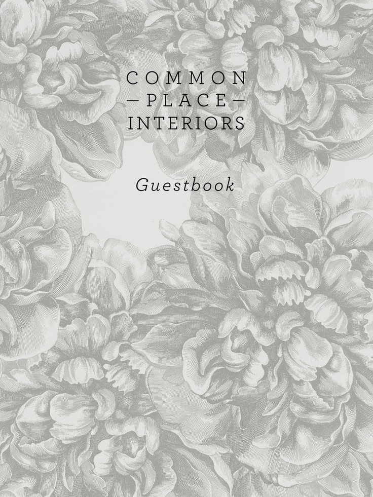 Custom cover for Common Place Interiors: Places Interiors, Common Places, Drew Elizabeth, Guest D Gallery, Future Ventures, Custom Covers