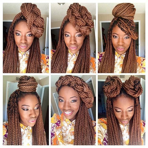 how to make the end of braids look natural